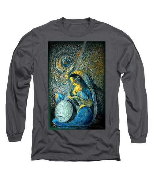 Vintage - Meera - Singing For Krishna Long Sleeve T-Shirt