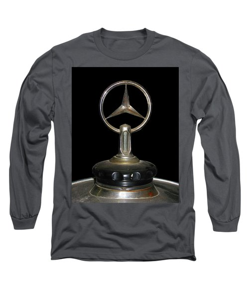 Long Sleeve T-Shirt featuring the photograph Vintage Mercedes Radiator Cap by David and Carol Kelly