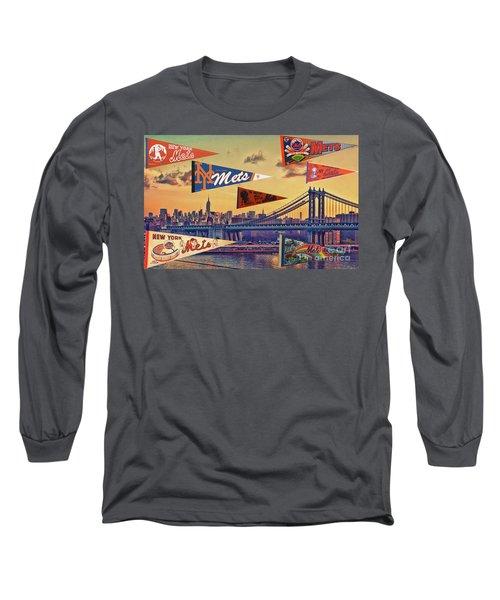 Vintage New York Mets Long Sleeve T-Shirt by Steven Parker