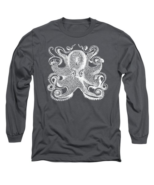 Long Sleeve T-Shirt featuring the digital art Vintage Octopus Illustration by Edward Fielding