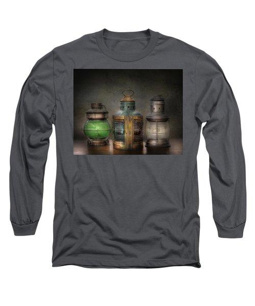 Vintage Railroad Oil Lamps Long Sleeve T-Shirt