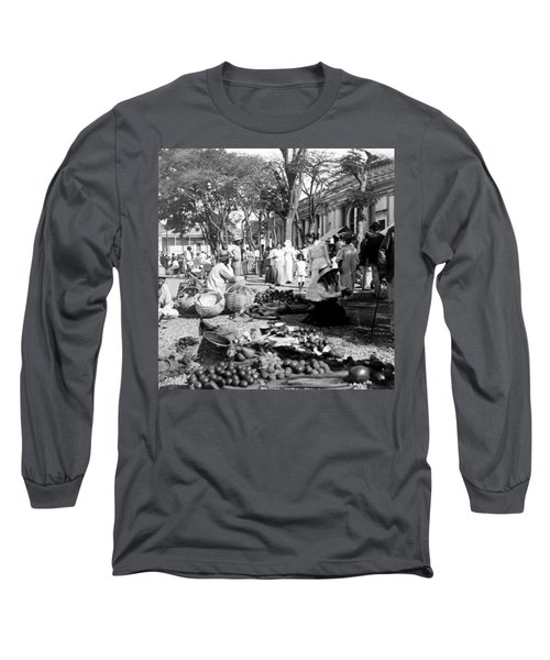 Vintage Street Scene In Ponce - Puerto Rico - C 1899 Long Sleeve T-Shirt