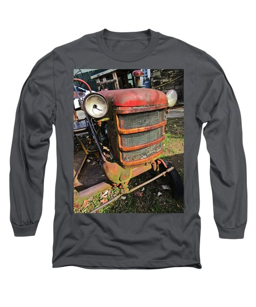Vintage Tractor Mower Long Sleeve T-Shirt