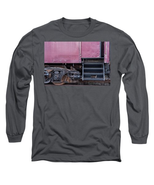 Vintage Train Car Steps Long Sleeve T-Shirt by Terry DeLuco