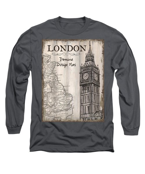 Vintage Travel Poster London Long Sleeve T-Shirt