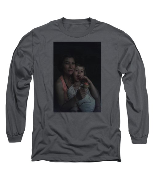 Long Sleeve T-Shirt featuring the photograph Vio E Francy One Part Of My Breath by Giuseppe Epifani