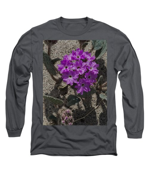 Long Sleeve T-Shirt featuring the photograph Violets In The Sand by Jeremy McKay