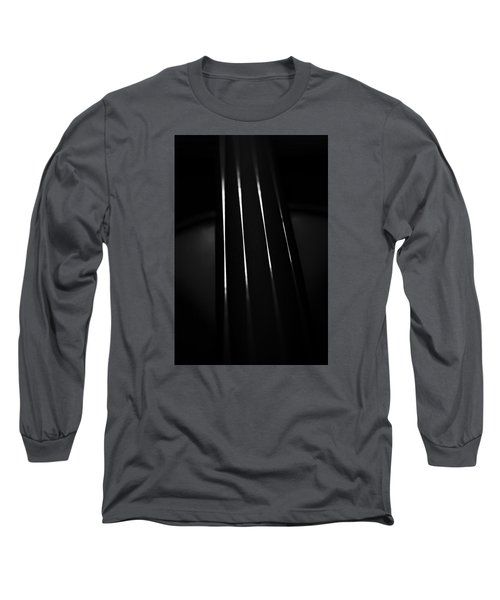 Violin Portrait Music 27 Macro Black White Long Sleeve T-Shirt