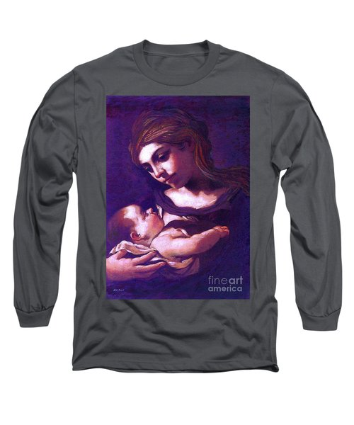 Virgin Mary And Baby Jesus, The Greatest Gift Long Sleeve T-Shirt