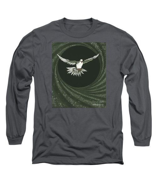 Viriditas-holy Spirit Detail Long Sleeve T-Shirt by William Hart McNichols