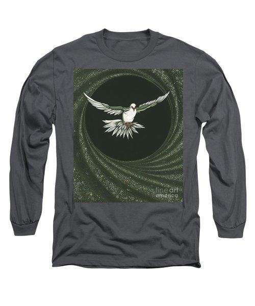 Viriditas-holy Spirit Detail Long Sleeve T-Shirt