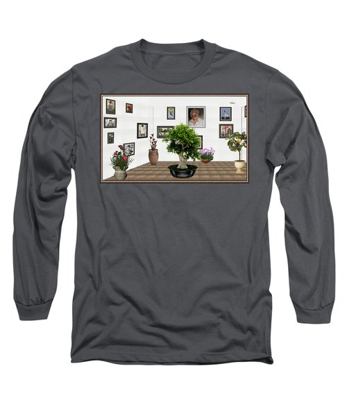 Virtual Exhibition -  Bonsai 13 Long Sleeve T-Shirt by Pemaro