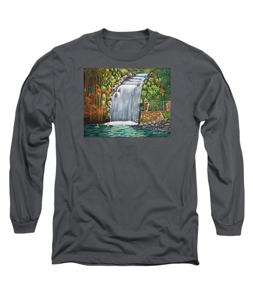 Visitors To The Falls Long Sleeve T-Shirt