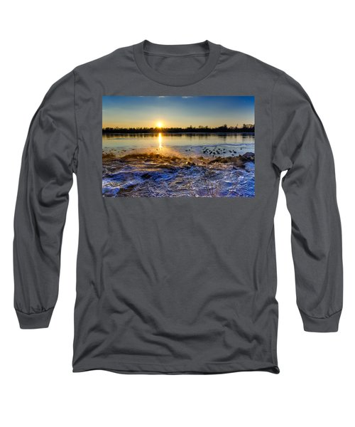 Vistula River Sunset 3 Long Sleeve T-Shirt