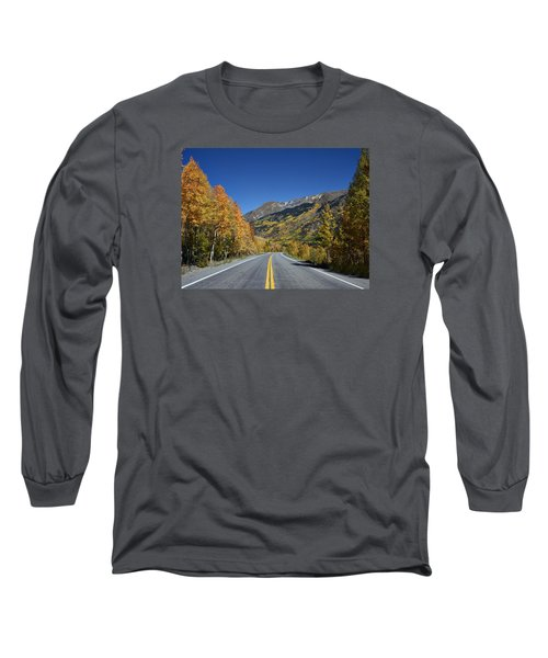 Vivid Fall Colors On The Million-dollar Highway In San Juan County In Colorado  Long Sleeve T-Shirt