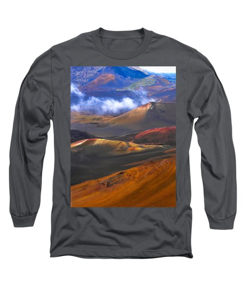 Long Sleeve T-Shirt featuring the photograph Volcanic Crater In Maui by Debbie Karnes