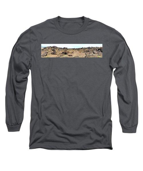 Volcanic Field Panorama Long Sleeve T-Shirt