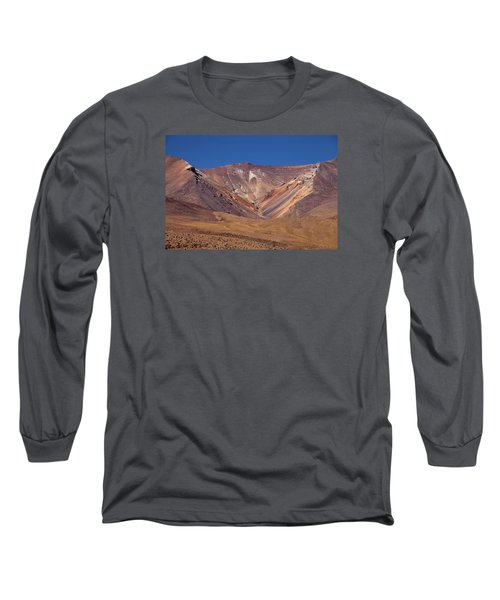 Volcano Crater In Siloli Desert Long Sleeve T-Shirt by Aivar Mikko