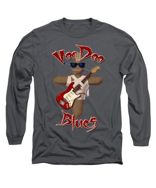 Voodoo Blues Strat T Shirt Long Sleeve T-Shirt by WB Johnston
