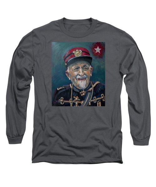 Long Sleeve T-Shirt featuring the painting Voulez Vous Un Pelske by Nop Briex