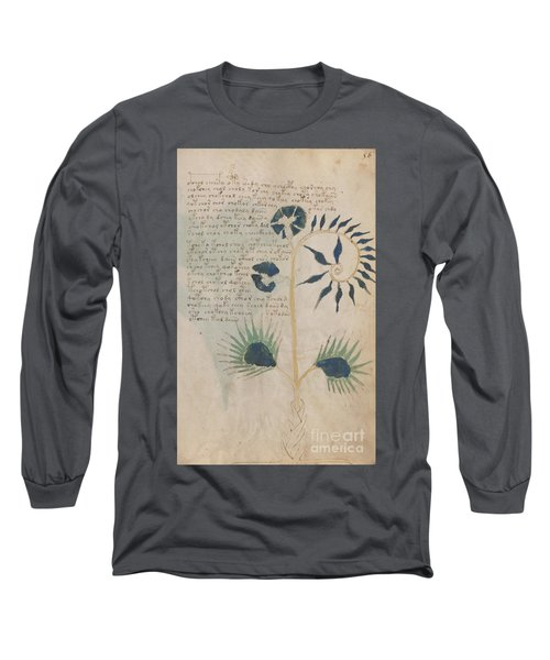 Voynich Flora 12 Long Sleeve T-Shirt