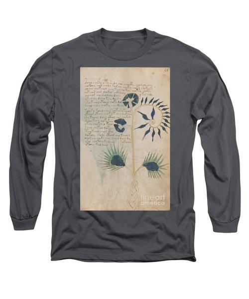 Voynich Flora 12 Long Sleeve T-Shirt