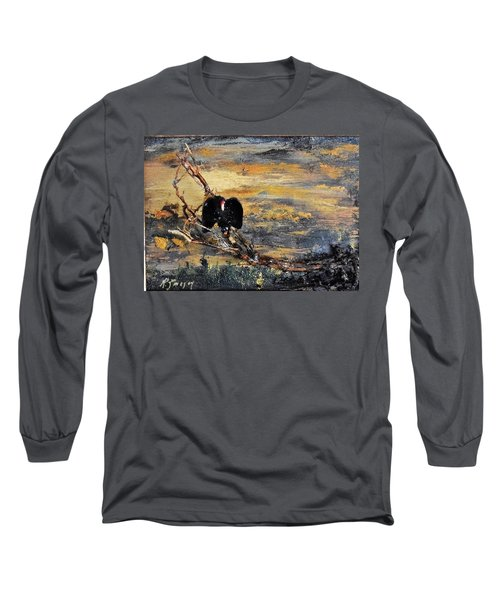 Vulture With Oncoming Storm Long Sleeve T-Shirt