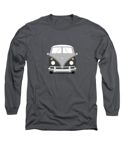 Vw Bus Grey Long Sleeve T-Shirt by Mark Rogan