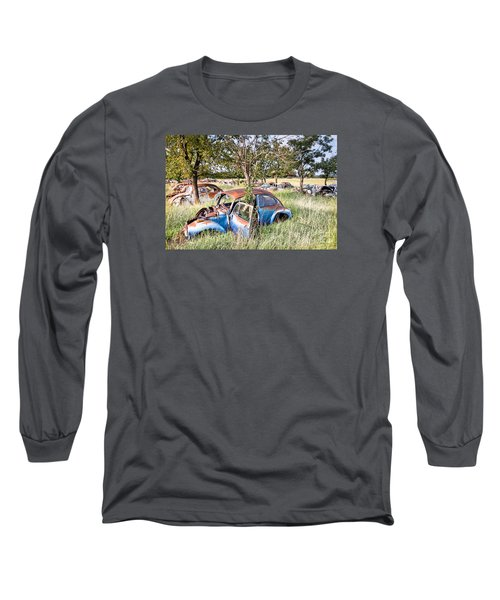 Long Sleeve T-Shirt featuring the photograph Vw Graveyard by Lawrence Burry