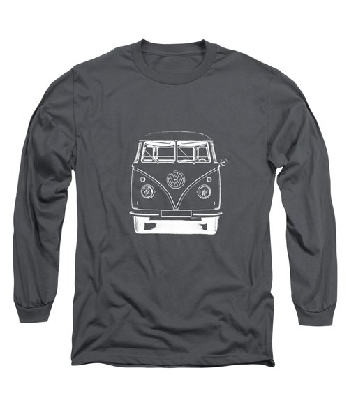 Vw Van Graphic Artwork Tee White Long Sleeve T-Shirt