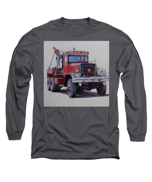 Long Sleeve T-Shirt featuring the painting Ward La France Wrecker by Mike Jeffries
