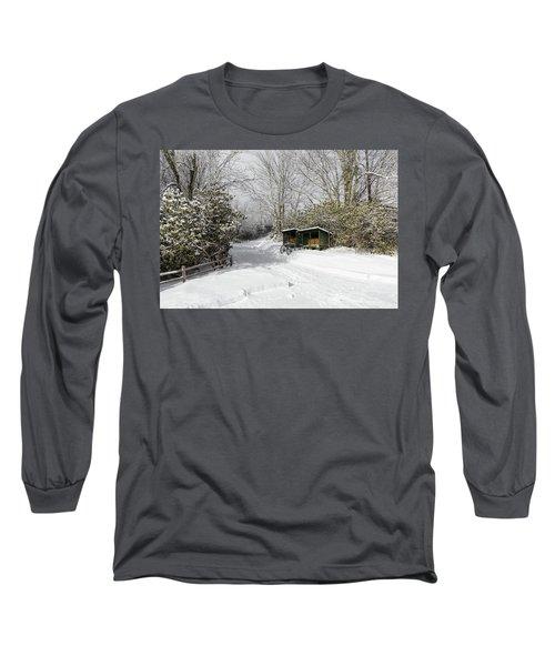 Wagon Wheels And Firewood Long Sleeve T-Shirt