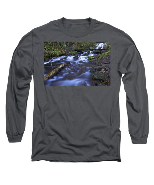 Wahkeena Creek Bridge # 5 Signed Long Sleeve T-Shirt
