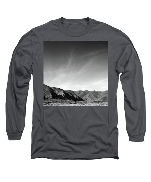 Wainui Hills Squared In Black And White Long Sleeve T-Shirt by Joseph Westrupp