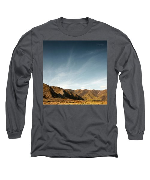 Long Sleeve T-Shirt featuring the photograph Wainui Hills Squared by Joseph Westrupp