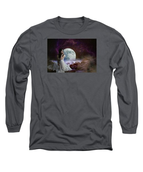 Waiting Long Sleeve T-Shirt by Ester Rogers