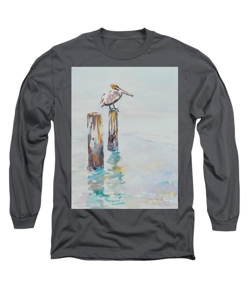 Waiting For Lunch Long Sleeve T-Shirt by Mary Haley-Rocks