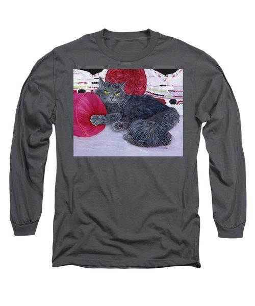 Long Sleeve T-Shirt featuring the painting Waiting For You by Karen Zuk Rosenblatt