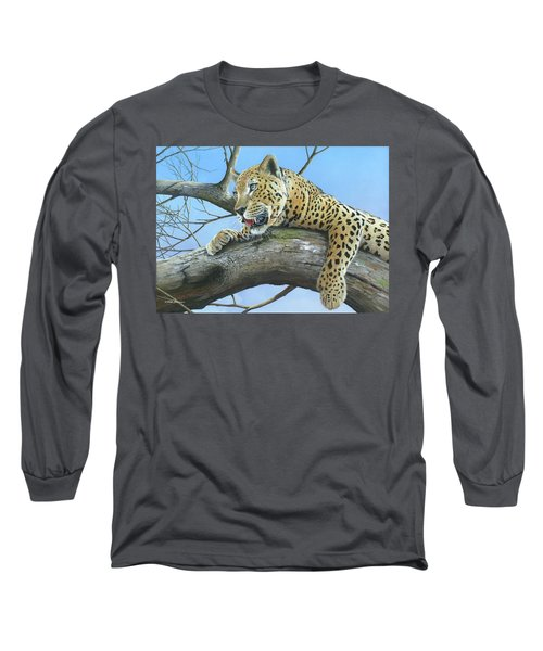 Long Sleeve T-Shirt featuring the painting Waiting Game by Mike Brown