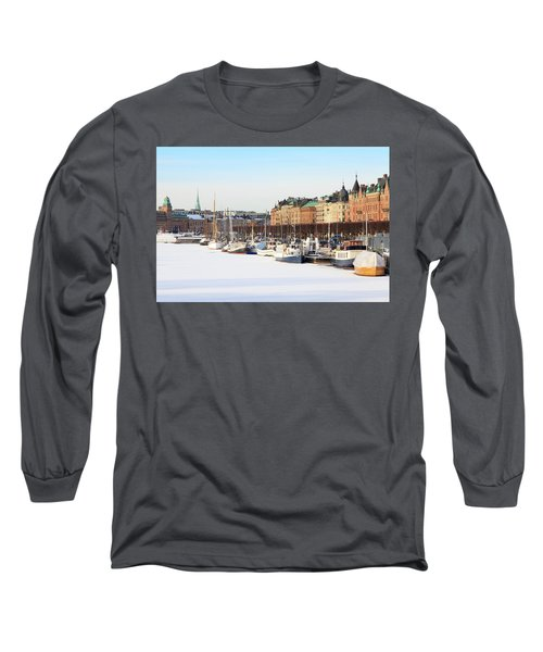 Waiting Out Winter Long Sleeve T-Shirt by David Chandler