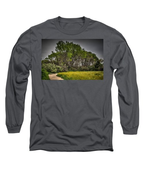 Walk In The Meadow In Spring Long Sleeve T-Shirt