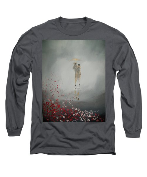 Long Sleeve T-Shirt featuring the painting Walk In The Storm by Raymond Doward