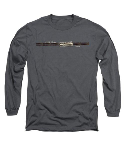 Walk The Line Light Lettering Long Sleeve T-Shirt