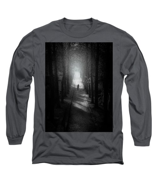 Walking Alone Long Sleeve T-Shirt by Celso Bressan
