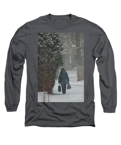 Walking Home In The Snow Long Sleeve T-Shirt