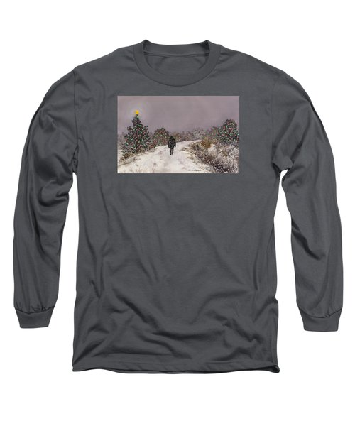 Walking Into The Light Long Sleeve T-Shirt by Anne Gifford