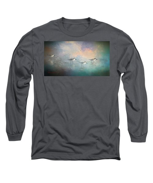 Walking Into The Sunset Long Sleeve T-Shirt by Marvin Spates