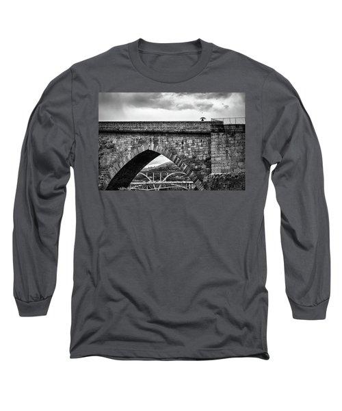 Walking On The Roman Bridge Long Sleeve T-Shirt