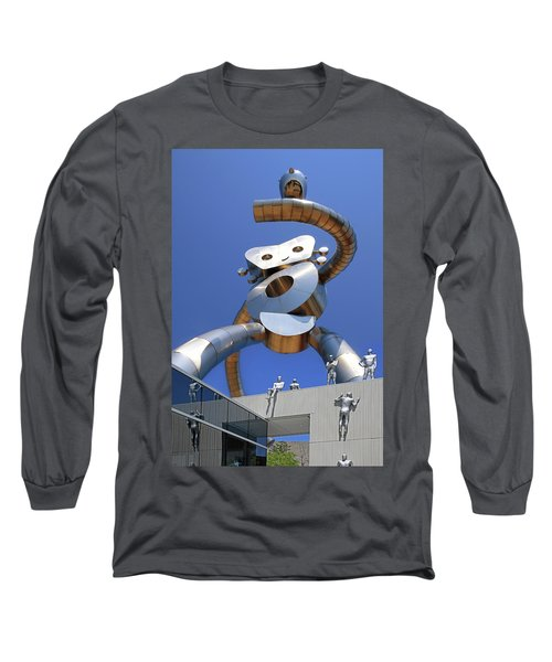 Long Sleeve T-Shirt featuring the photograph Walking Tall Path by Christopher McKenzie