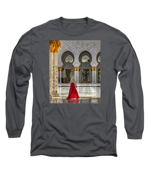 Long Sleeve T-Shirt featuring the photograph Walking Temple by John Swartz